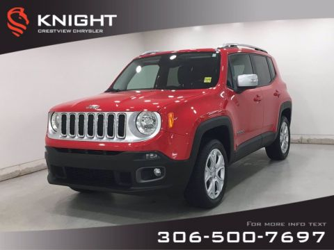 Certified Pre-Owned 2017 Jeep Renegade Limited 4x4 | Leather | Navigation | My Sky Open Air Roof |